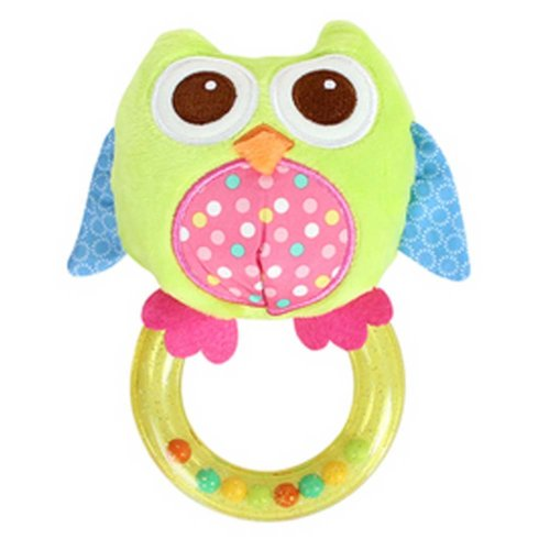 Rotatable Animal Cartoon Owl Plush Baby Infant Baby Toys Rattles