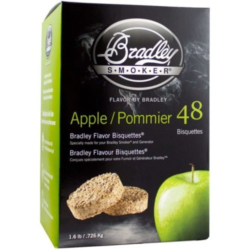 Bradley Smoker Apple Bisquettes - 48 Pack