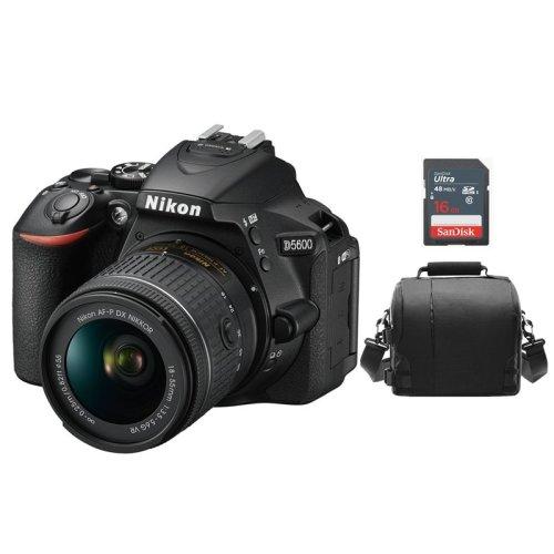 NIKON D5600 KIT AF-P 18-55MM F3.5-5.6G VR + Bag + 16gb SD card