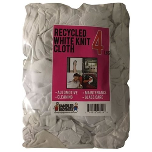 Sandler Brothers 215003 4 lbs Recycled Knit Cloth - White