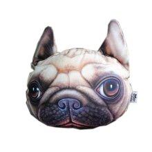 3D Cute Pet Dogs and Cats Face Head Pillow, Shar Pei