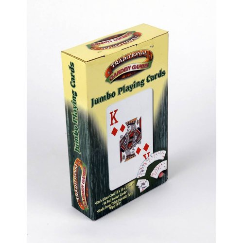 Traditional Garden Games 52 Jumbo A5 Playing Cards Family Summer Outdoor Fun