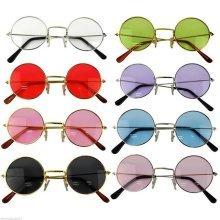 John Lennon Style Sunglasses Ozzy Osbourne Hippy 80's 70's Fancy Dress Glasses[Black]