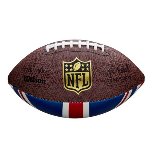 Wilson NFL Union Jack American Football Ball Brown Official Size