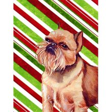 e0154487c Carolines Treasures LH9224GF 11 x 15 in. Brussels Griffon Candy Cane  Holiday Christmas Garden Size Flag