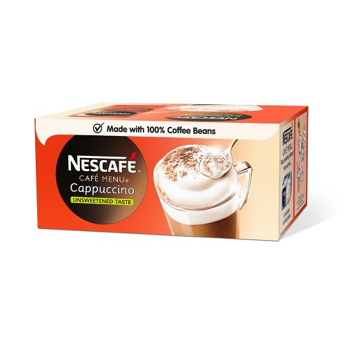Nescafe Cafe Menu Cappuccino Unsweetened Taste Sachets (pack of 50)