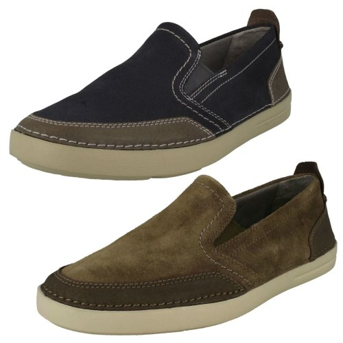 Mens Clarks Casual Slip On Shoes Gosler Race - G Fit