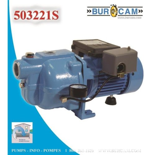 Bur-Cam Pumps 503221S Cast Iron Shallow Well Jet Pump .75 HP