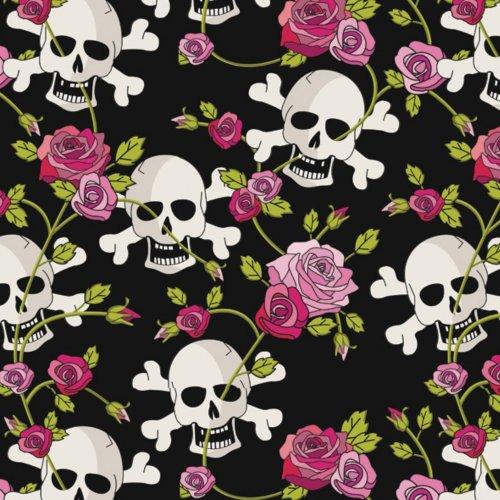 Wrapping Paper Skull & Red Roses Skull–Set of 3