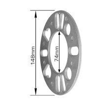 5mm Silver Universal Wheel Spacers - Alloy Shim 4 Stud 77mm 150mm -  5mm silver universal wheel spacers alloy shim 4 stud 77mm 150mm