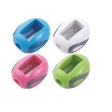 School Smart Hand Held Plastic Pencil Sharpener-Assorted Colors-Pack of 4
