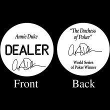 Trademark Poker Annie Duke Professional Collectors Dealer Button