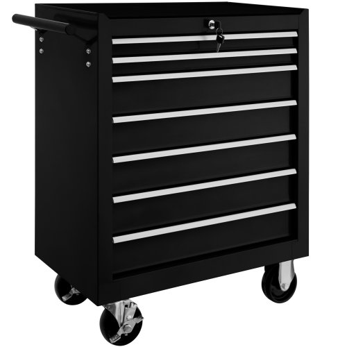 Tool chest with 7 drawers black