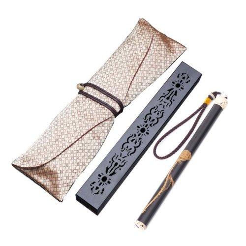 Wooden Incense Burner Box Ebony Wood Incense Stick Burner with Incense Tube, 15