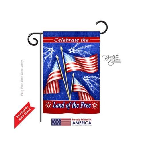 Breeze Decor 61057 Fourth of July Celebrate Freedom 2-Sided Impression Garden Flag - 13 x 18.5 in.