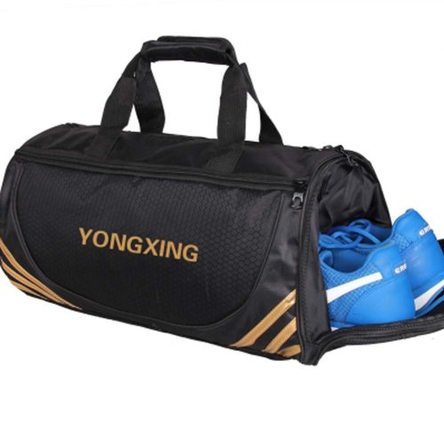 Large Sports Duffle Bags Gym Accessories Bags Travel Bag with Shoes Compartment, A