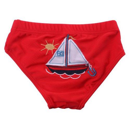 Baby Boy Baby Girl Swim Shorts Reusable Cute Infant Spa Swimwear, White Sailboat