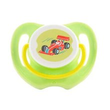 Lovely Cartoon Free Nighttime Infant Pacifier,  Double Clutch,Green