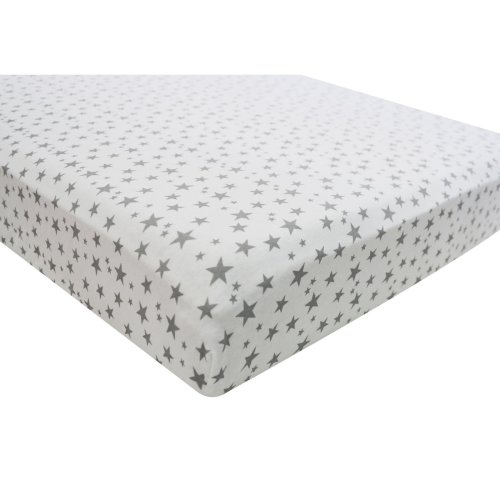 4pk Fitted Cotton Baby Sheets - Midnight Stars | Stars Crib Sheets