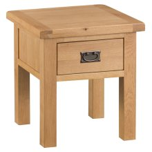 Colchester Chunky Oak Lamp Table With Drawer