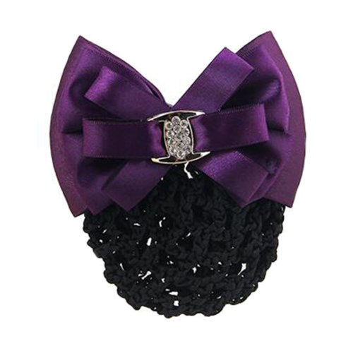 Elegant Ladies Hairnet Bowtie Barrette Hair Clip Snood Net Professional Hairdressing, R