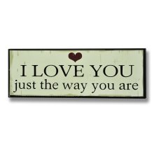 I love You Plaque Sign