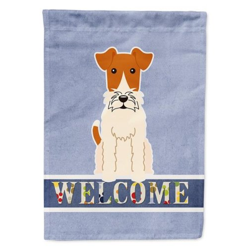 Carolines Treasures BB5682CHF Wire Fox Terrier Welcome Flag Canvas House Size