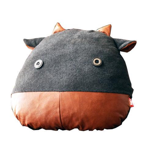 Cute Design Multi-function Lumbar Support/Back Cushion,Grey(Stupid Cow)