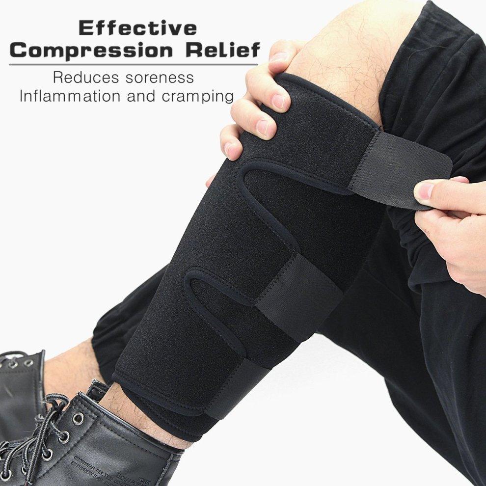 e042859e50 ... Essort Medical Sports Calf Support Brace, Adjustable Shin Splint  Compression Sleeve Increases Circulation Recovery, ...