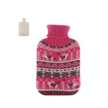 Christmas version Classic Hot water Bottle Transparent Rubber Cartoon Warm Bag Water spray #23