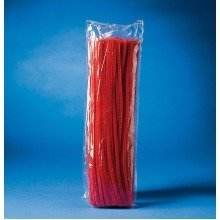 Pbx2470048 - Playbox - Fluffy Chenille (red ) - 30 Cm, Ï 6 Mm - 100 Pcs
