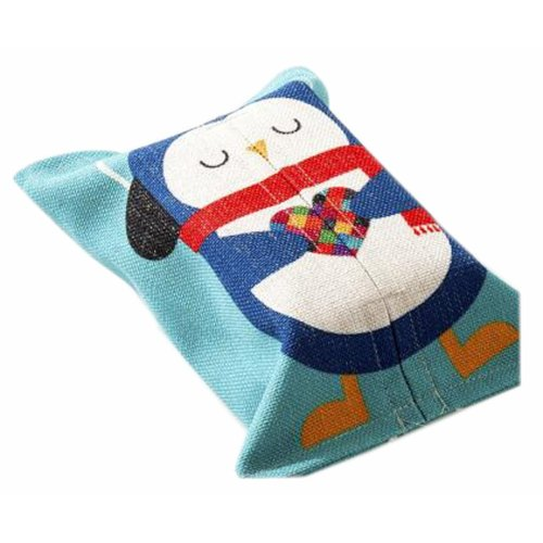 Convenient Cloth Toilet Paper Tissue Holder Storage Box Pinguin Multicolor