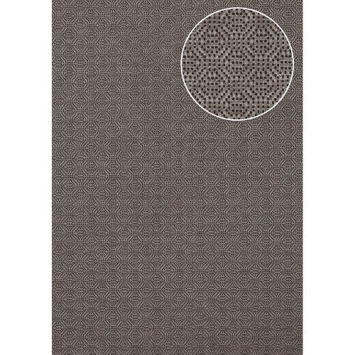Atlas COL-543-4 Textured wallpaper shimmering brown-grey 5.33 sqm