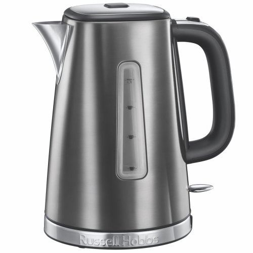 Russell Hobbs 23211 Luna Quiet/Rapid Boil Electric Jug Kettle, 1.7L 3000W - Grey