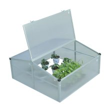 Outsunny 2 Level Greenhouse Planting Storage w/ Aluminium Skeleton (100L x 100W x 48H (cm))
