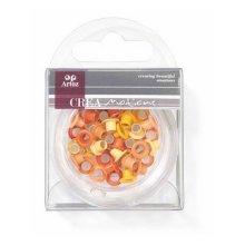 Assorted Orange 5mm Eyelets By Artoz