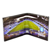 Stadium Wallet Club Crest On The Cover Pitch Panoramic View Folded Everton - -  wallet everton leather panoramic 801 official fc embossed stadium