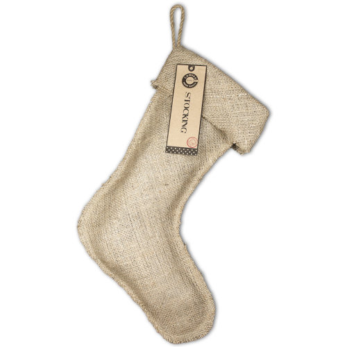 "Burlap Large Stocking 11""X17""-Natural"