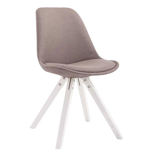 Visitor chair Toulouse substance Square white