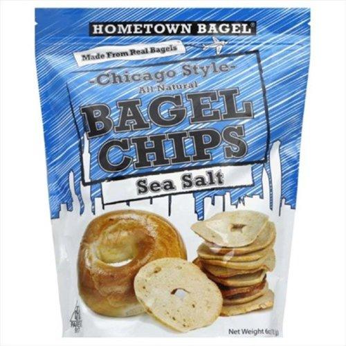 HOMETOWN BAGEL CHIP BAGEL SEA SALT-6 OZ -Pack of 12