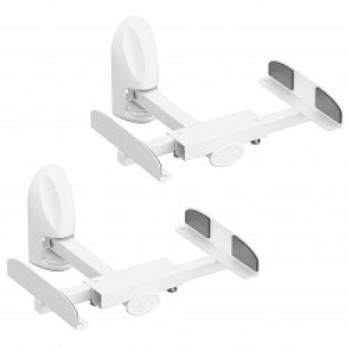 King Universal Tilt & Swivel Speaker Wall Mount Bracket Pair, for Surround Sound Speakers Up to 20kg (White)