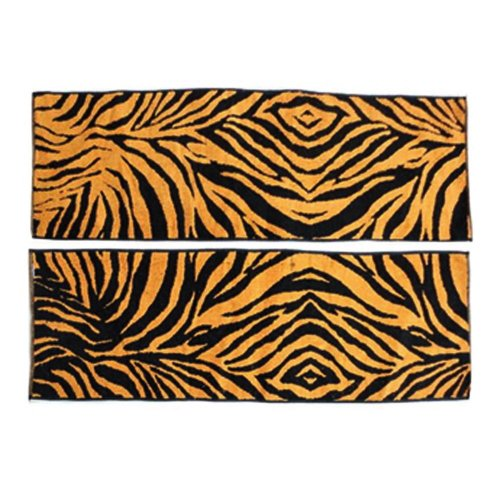 Set of 2 High-quality Absorbent Hip-hop/Sport/Yoga Towels YELLOW Zebra-stripe