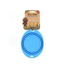 Beco Pets Travel Bowl, Small, Blue