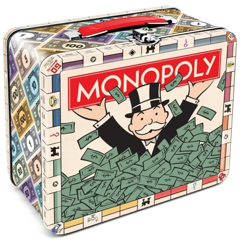 Lunch Box - Monopoly - Lunch Bank Tin Case Licensed Gifts 48059