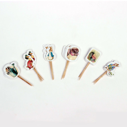 Peter Rabbit Party Picks Canape Flags x 24 Peter Jemima Birthday Party