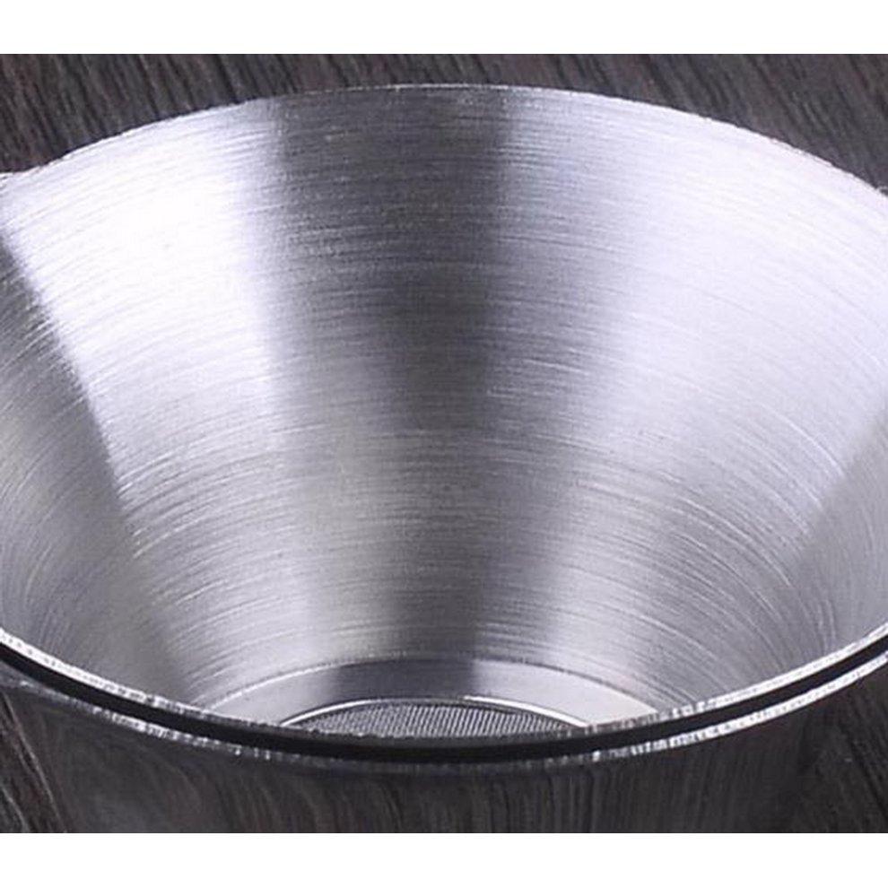 Stainless Steel Tea Accessory Set, Long Handle Tea Filter + Sliver Tea Leak  Base
