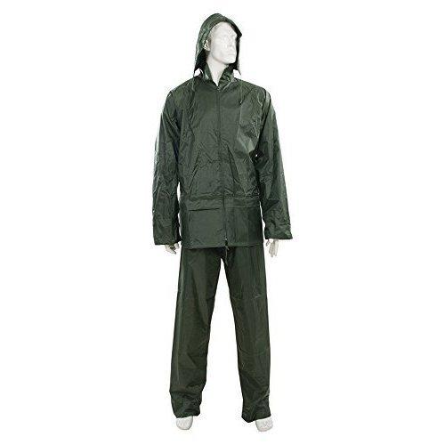 """Silverline 669853 Rain Suit Green 2pce L 74 - 130cm (29 - 51"""") - 29 51 -  rain suit green 29 74 130cm 51 silverline 2pce 669853"""