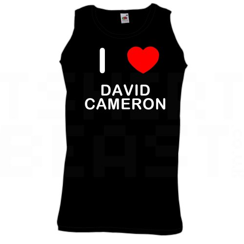 I Love David Cameron - Quality Printed Cotton Gym Vest