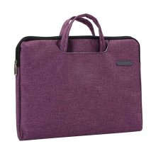 Portable Canvas Document Organizer A4 Zipper Bag Office Briefcase-Rose