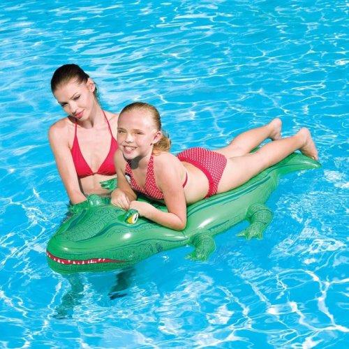 "168cm x 89cm (66"" x 35"") Crocodile Rider Inflatable Beach / Pool Toy"
